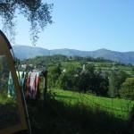 Camping les Châtaigniers- emplacements avec vue